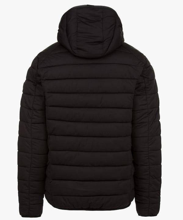 Mens Puffer Stretch Jacket in Black
