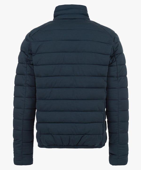 Men's Puffer Stretch Jacket in Navy Blue Melange