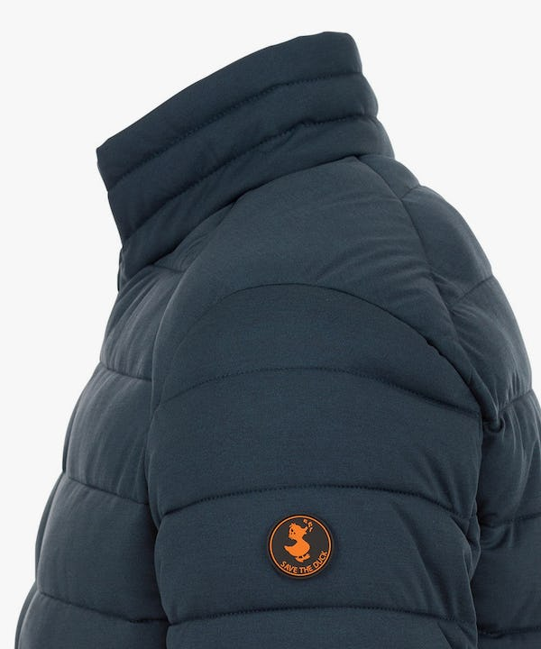 Men's Puffer Stretch Jacket in Navy Blue Melange