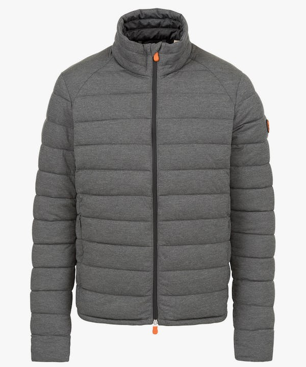 Men's Stretch Puffer Jacket in Opal Grey Melange
