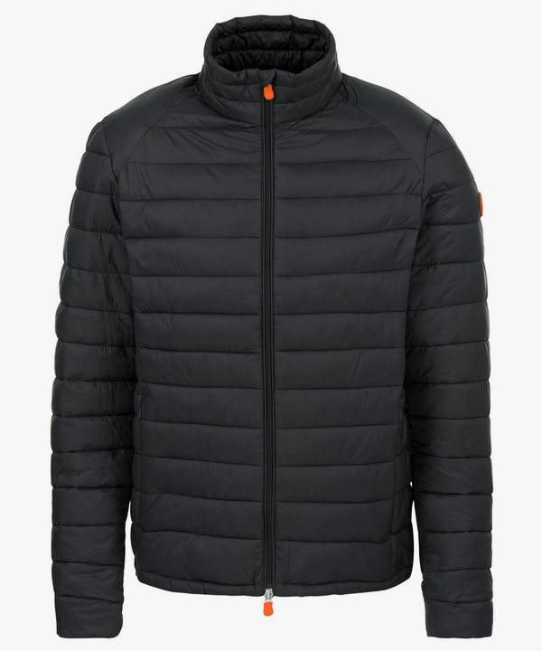 Men's Lightweight Puffer Jacket in Brown Black
