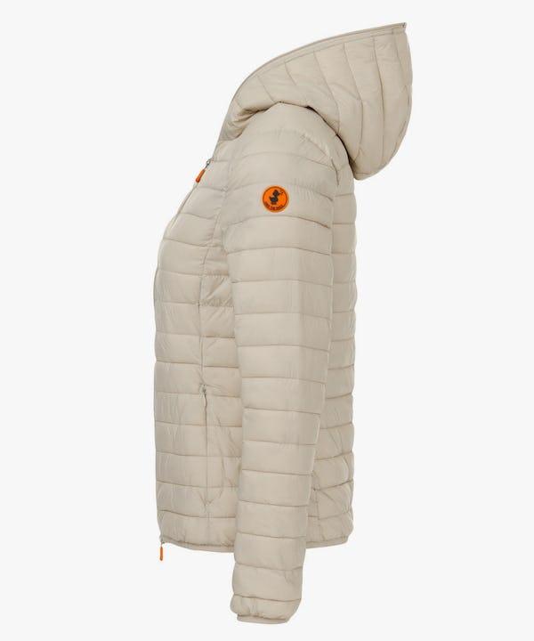 Women's Hoodied Jacket in Cray Beige