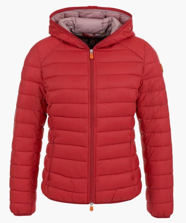Women's Hooded Jacket in Tango Red
