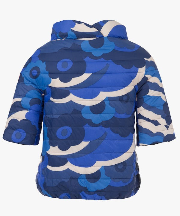 Women's Reversible Jacket in Printed Blue