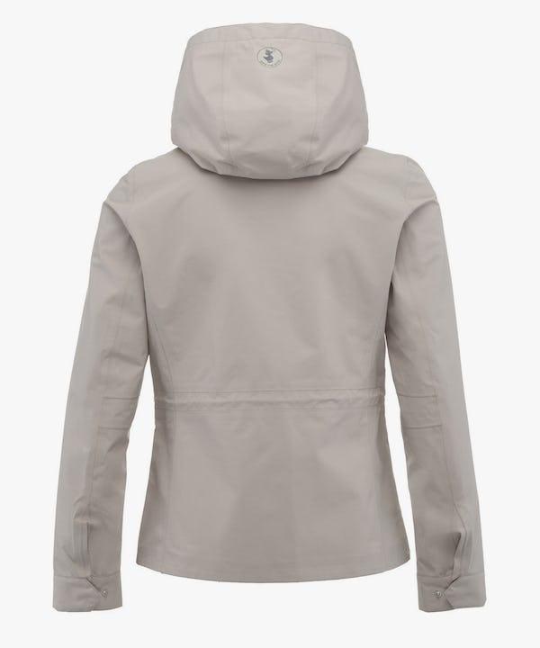 Women's Hoodied Jacket in Sand Beige
