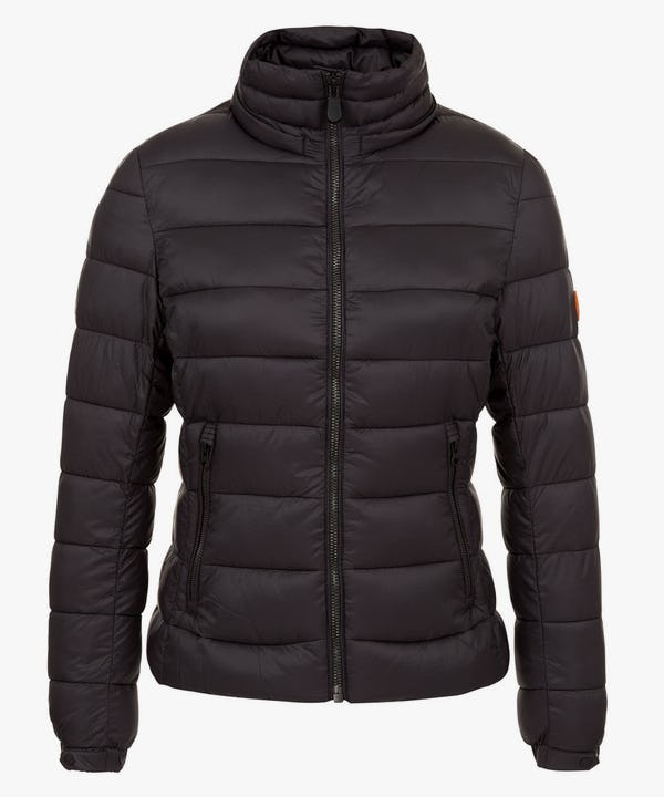 Women's Hooded Puffer Jacket in Black