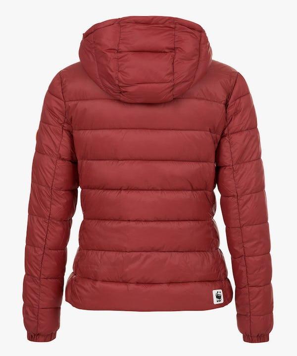 Women's Hooded Puffer Jacket in Tibetan Red