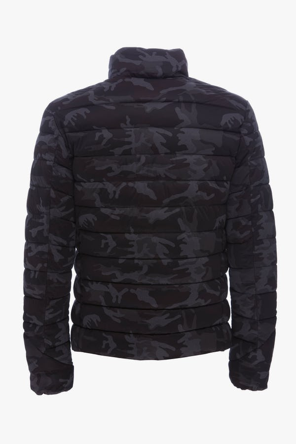 Men's Jacket in Grey Camouflage