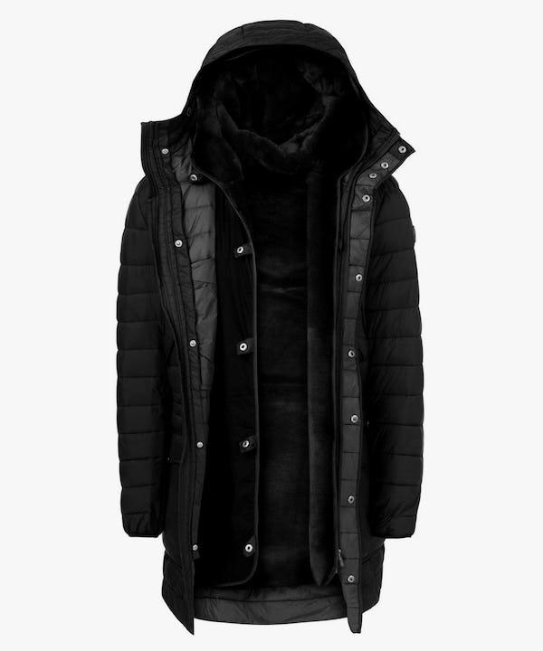 Winter Men's Hoodied Parka in Black