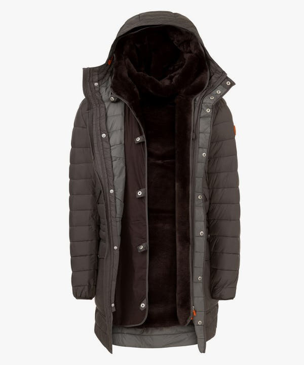 Winter Men's Hoodied Parka in Iron Grey