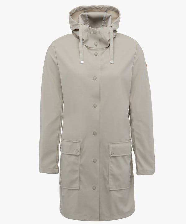 Women's Hoodied Coat in Ice Grey