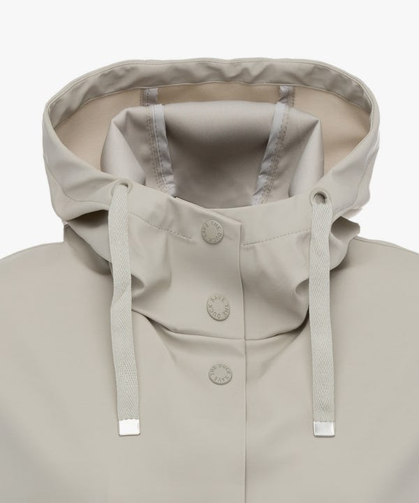 Women's Hoodied Coat in Ice Grey