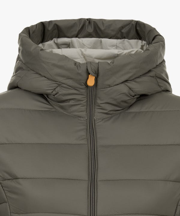Women's Puffer Long Coat in Turtle Dove
