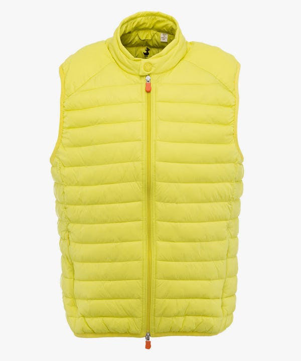 Men's Vest in Acid Yellow