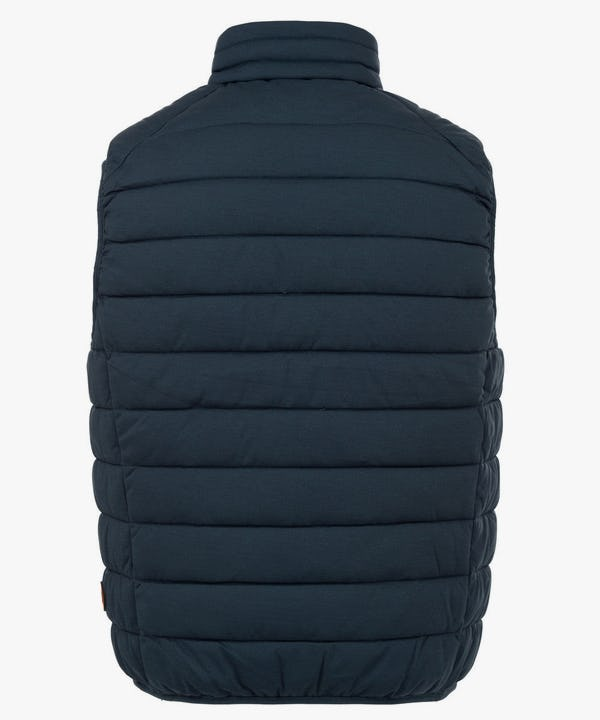 Men's Stretch Puffer Vest in Navy Blue Melange