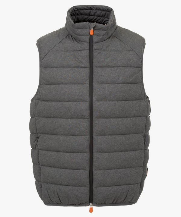 Men's Stretch Puffer Vest in Opal Grey Melange