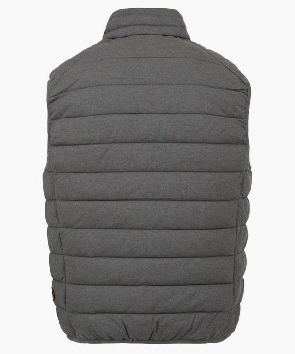 Men's Stretch Puffer Vest in Opal Grey Melange