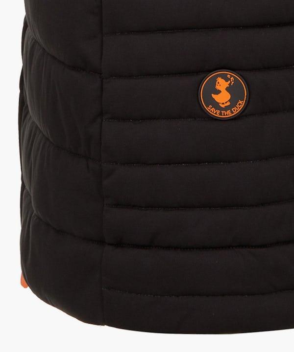 Women's Sleeveless Stretch Puffer Coat in Black