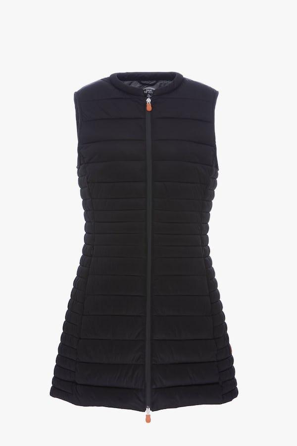 Women's Stretch Sleeveless Coat  in Black