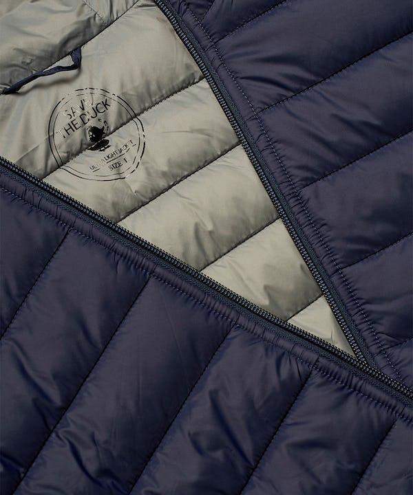 Men's Lightweight Puffer Hooded Jacket in Navy Blue