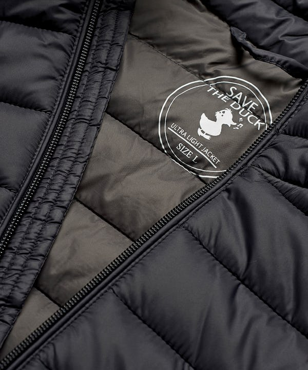 Men's Lightweight Puffer Jacket in Blue Black