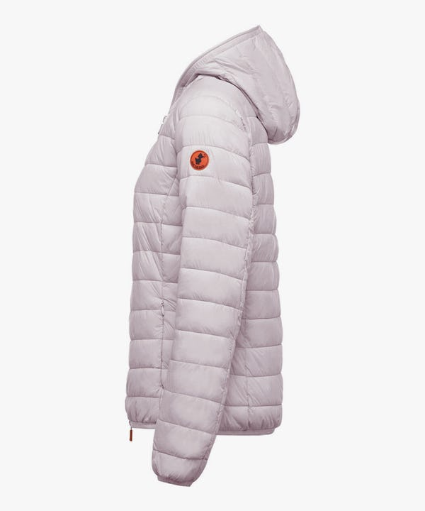Women's Hooded Puffer Jacket in Pink Lady