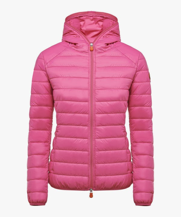 Women's Hooded Puffer Jacket in Azalea Pink