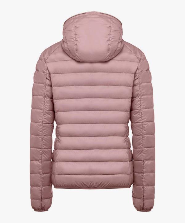 Women's Hooded Puffer Jacket in Misty Rose