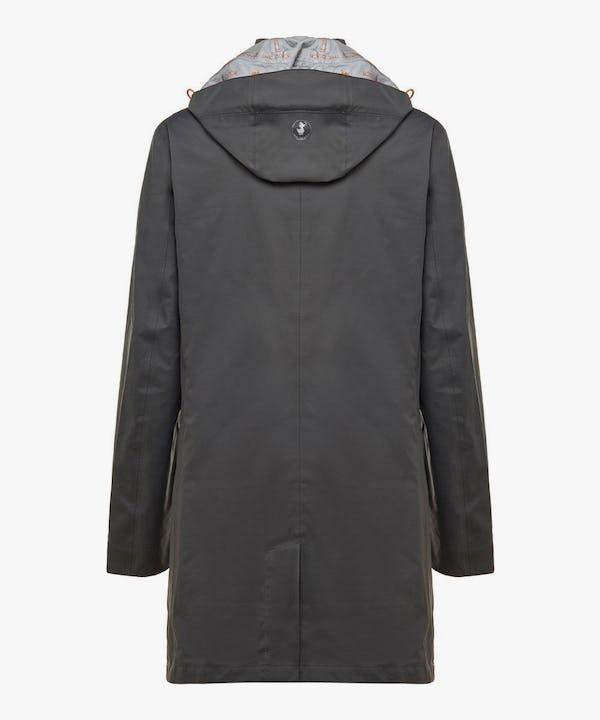Men's Raincoat in Charcoal Grey