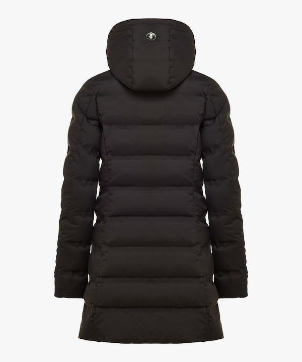 Women's Long Puffer Winter Coat In Black