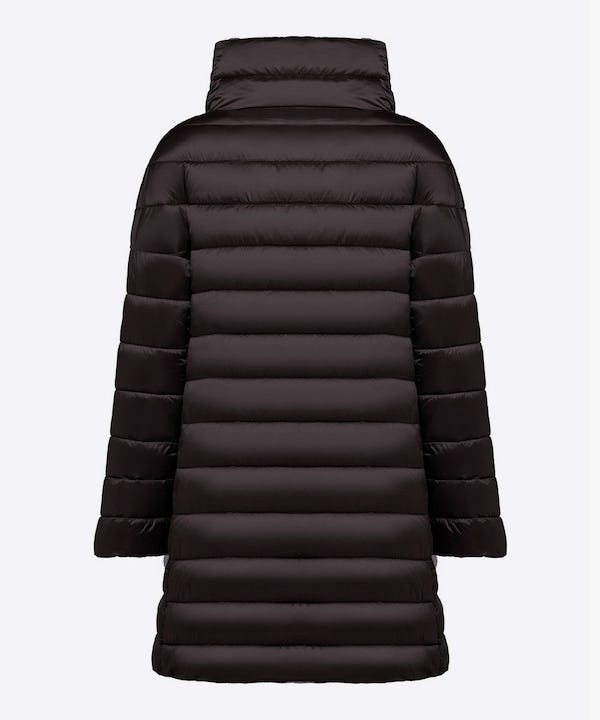 Women's Iridescent Puffer Coat in Black