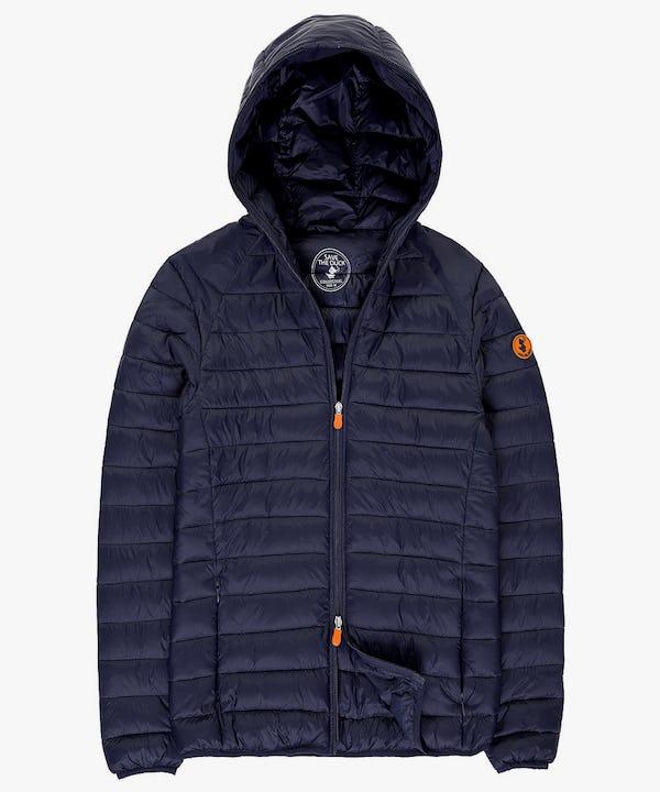 Lightweight Men's Hooded Jacket in Navy Blue