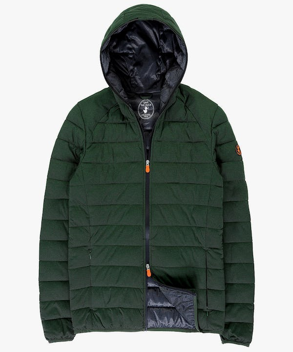 Men's  Hooded Jacket in Cypress Green Melange