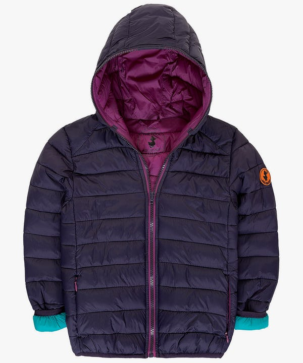 Girl's Hooded Jacket in Grape