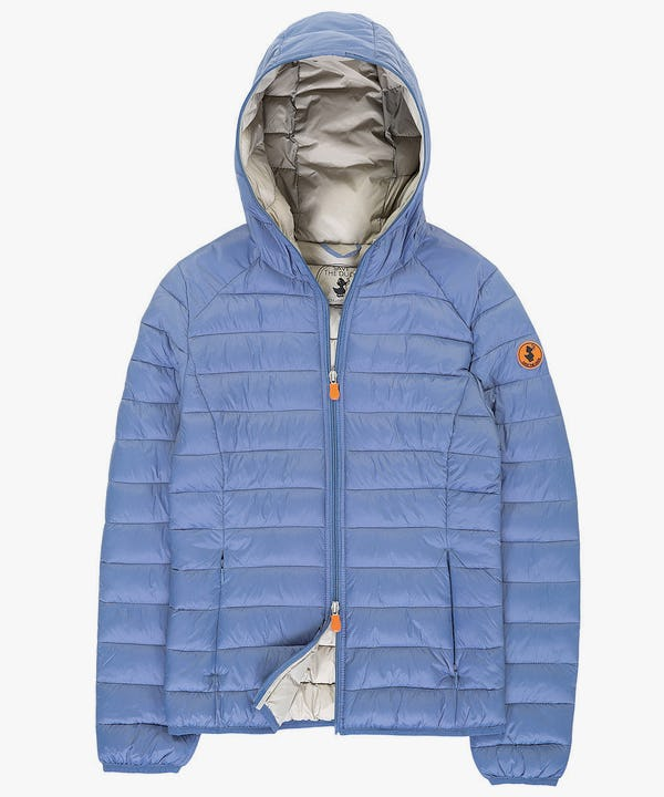 Women's Hooded Jacket in Blue Fog