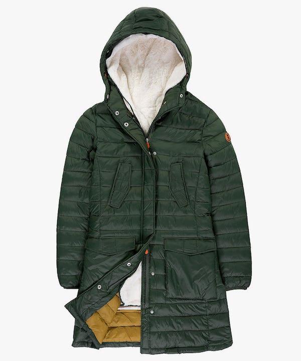 Women's Coat in Cypress Green