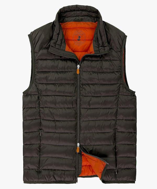 Men's Vest in Brown Black